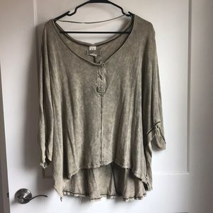 Olive Green Flowy Top